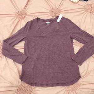 Nwt old navy mauve pink long sleeve top s petite